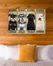 Schnauzer be strong 36x24 Poster poster-landscape-36x24-lifestyle-23