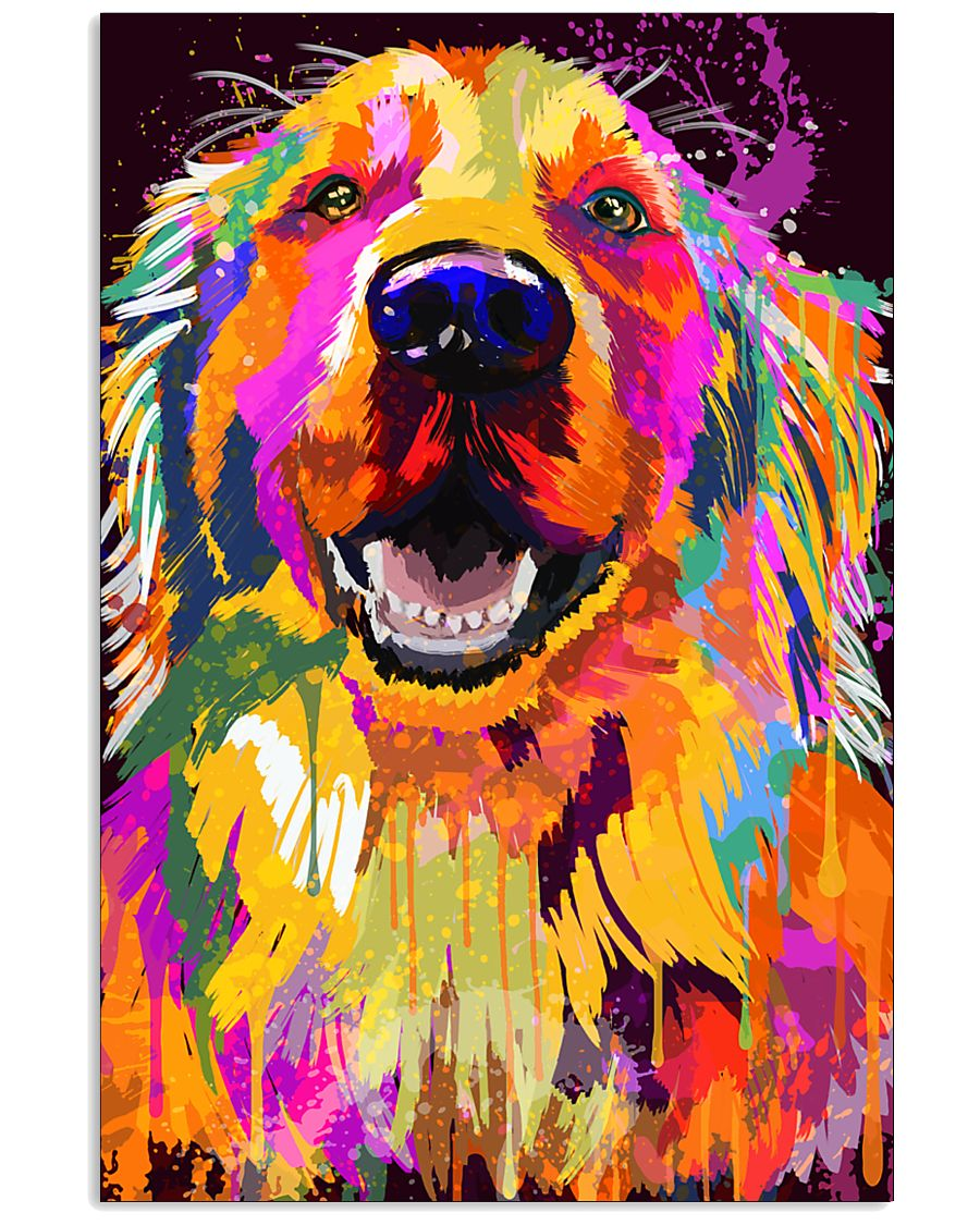Golden Retriever Water Color Art J2 11x17 Poster