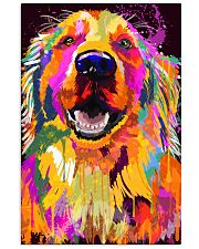 Golden Retriever Water Color Art J2 11x17 Poster front