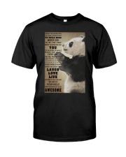 Panda poster Classic T-Shirt thumbnail