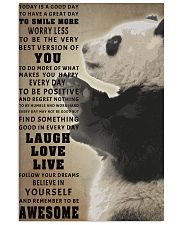 Panda poster 11x17 Poster front