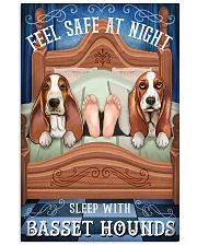 Basset Hound Feel Safe At Night 16x24 Poster front