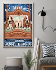 Basset Hound Feel Safe At Night 16x24 Poster lifestyle-poster-1