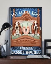 Basset Hound Feel Safe At Night 16x24 Poster lifestyle-poster-2