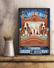 Basset Hound Feel Safe At Night 16x24 Poster lifestyle-poster-3