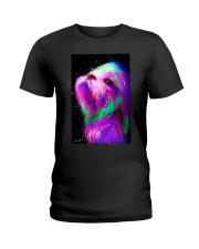Shih Tzu Water Color Ladies T-Shirt thumbnail