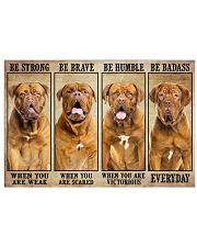 Dogue be strong 36x24 Poster front