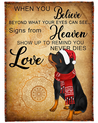 Signs From Heaven Rottweiler Dog
