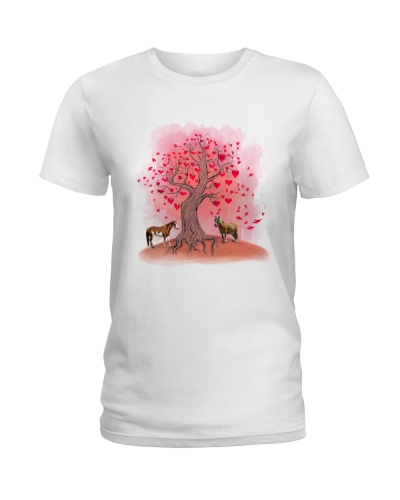 Horse tree love