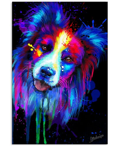 Border Collie Colorful Art