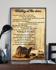 German Sherpherd waiting at the door 24x36 Poster lifestyle-poster-2