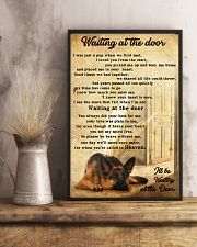 German Sherpherd waiting at the door 24x36 Poster lifestyle-poster-3