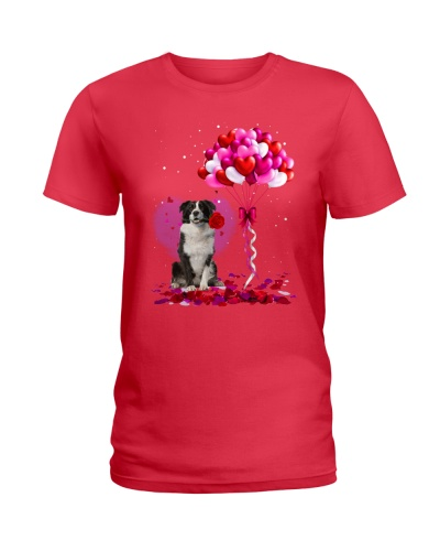 Border collie Valentine Baloon