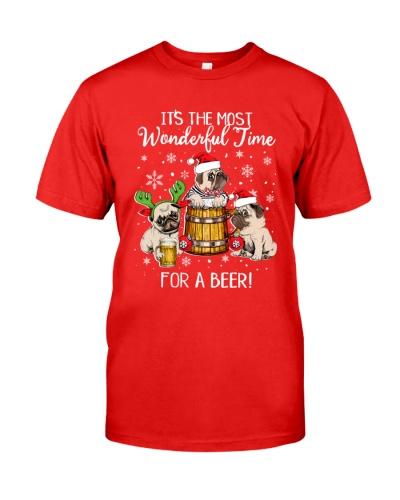 Pug christmas beer