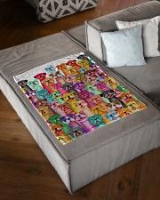 "Bulldog mullti fleece Blanket Small Fleece Blanket - 30"" x 40"" aos-coral-fleece-blanket-30x40-lifestyle-front-03"