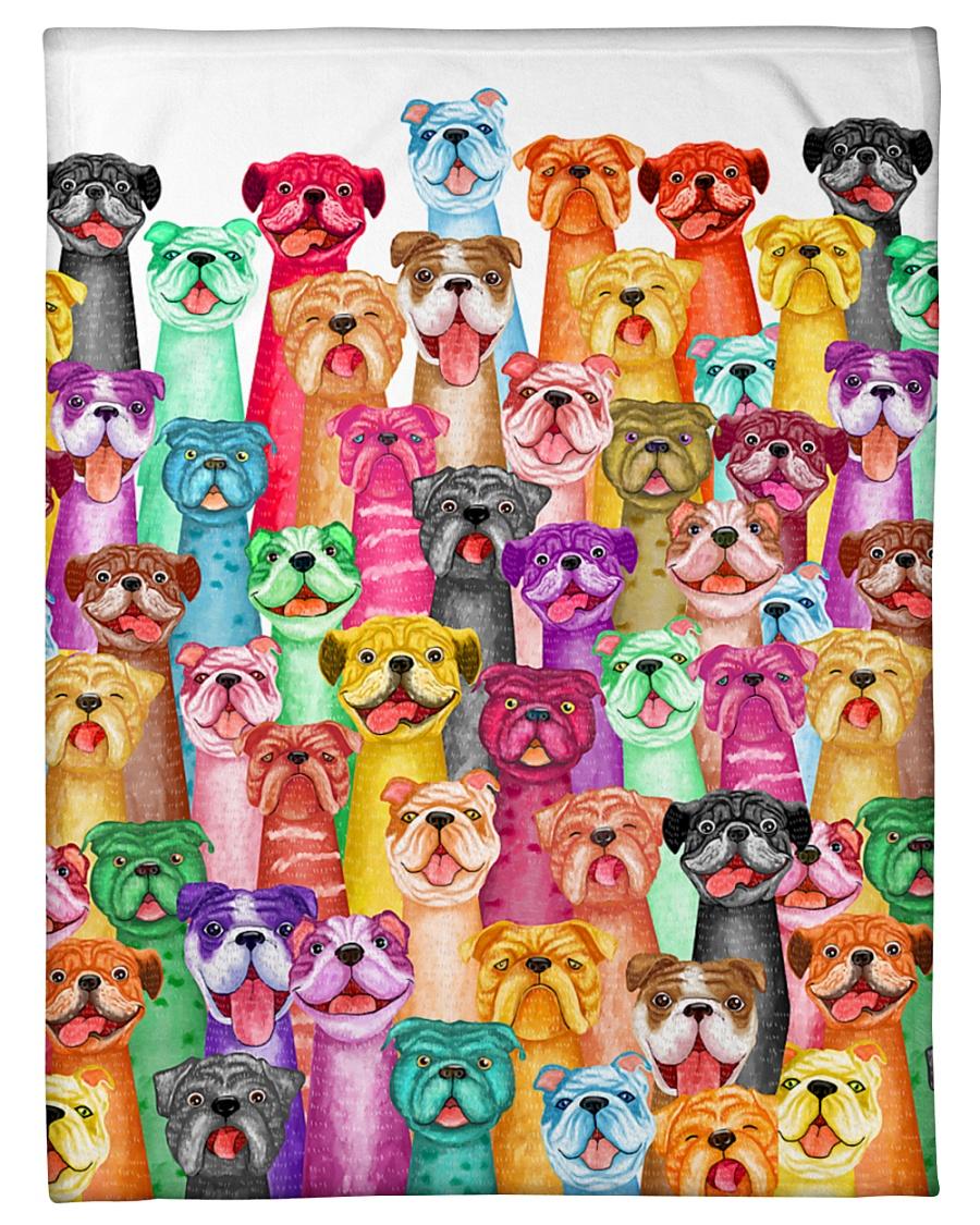 "Bulldog mullti fleece Blanket Small Fleece Blanket - 30"" x 40"""
