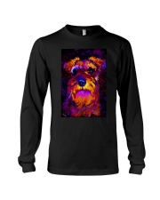 SCHNAUZER POSTER COLORFUL Long Sleeve Tee thumbnail