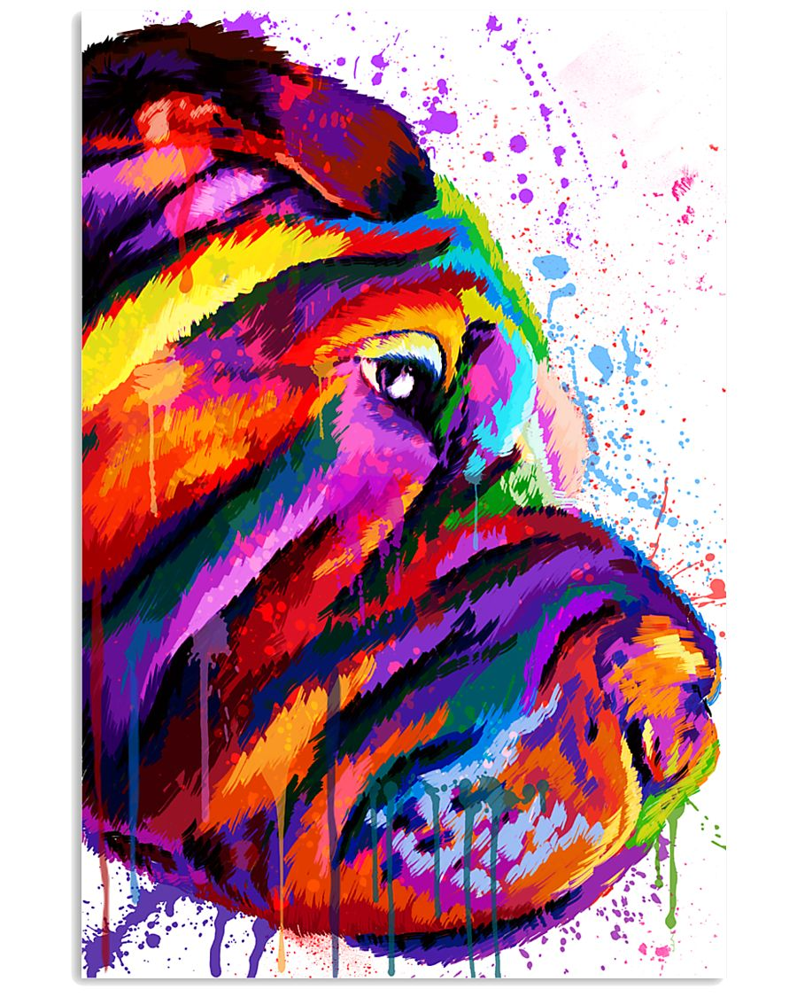 Shar Pei Water Color 16x24 Poster