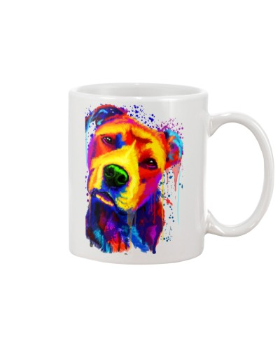 Pitbull Water Color