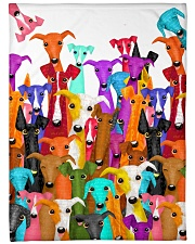 "Greyhound Multi Large Fleece Blanket - 60"" x 80"" front"