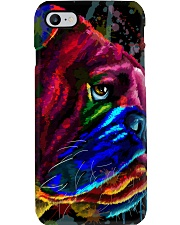 Bulldog face color Phone Case tile