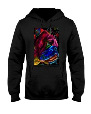Bulldog face color Hooded Sweatshirt thumbnail