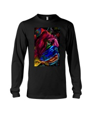 Bulldog face color Long Sleeve Tee tile