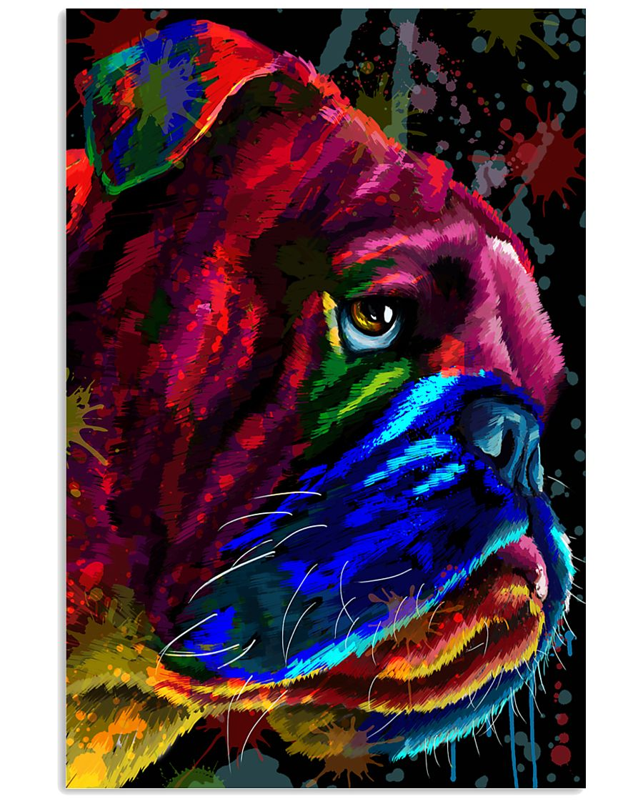 Bulldog face color 11x17 Poster