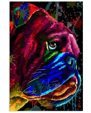 Bulldog face color Vertical Poster tile