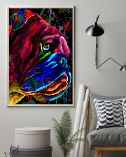 Bulldog face color 11x17 Poster lifestyle-poster-1