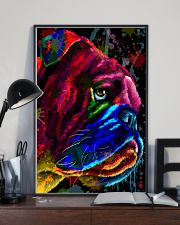 Bulldog face color 11x17 Poster lifestyle-poster-2