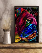 Bulldog face color 11x17 Poster lifestyle-poster-3