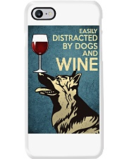 German Shepherd Easily distracted by dogs and wine Phone Case thumbnail