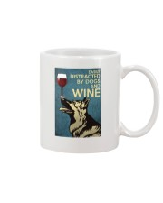 German Shepherd Easily distracted by dogs and wine Mug thumbnail
