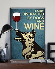 German Shepherd Easily distracted by dogs and wine 24x36 Poster lifestyle-poster-2