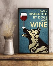 German Shepherd Easily distracted by dogs and wine 24x36 Poster lifestyle-poster-3