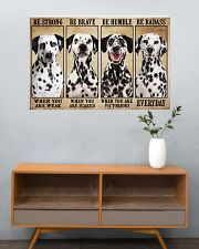 Dalmatian Be Strong 36x24 Poster poster-landscape-36x24-lifestyle-21