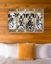 Dalmatian Be Strong 36x24 Poster poster-landscape-36x24-lifestyle-23