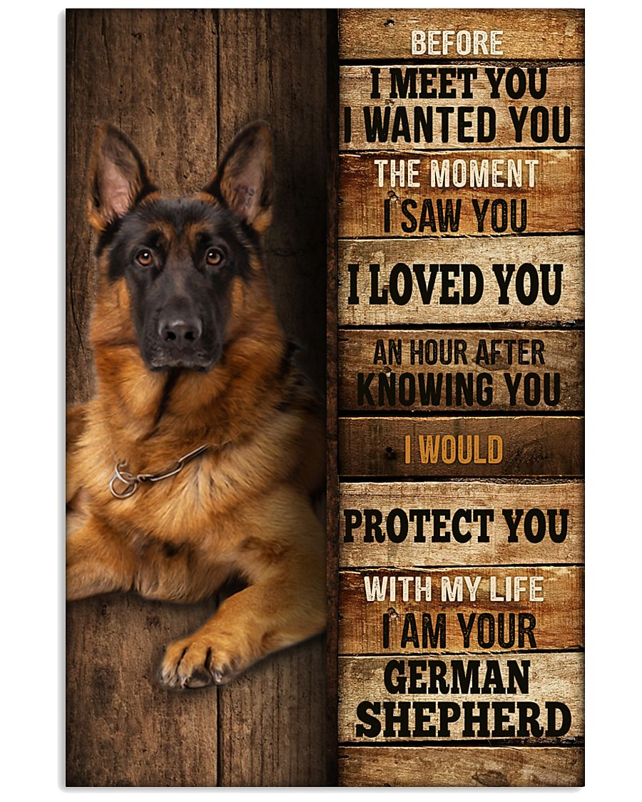 German Sherpherd  I loved You  24x36 Poster