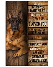 German Sherpherd  I loved You  24x36 Poster front