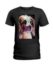 Cavalier Water Color Ladies T-Shirt thumbnail