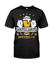 SAMOYED AND BEER HOODIE Classic T-Shirt thumbnail