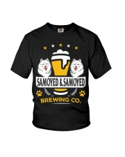 SAMOYED AND BEER HOODIE Youth T-Shirt thumbnail
