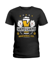 SAMOYED AND BEER HOODIE Ladies T-Shirt thumbnail
