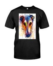 Greyhound Face Art Flow Q10 Classic T-Shirt thumbnail