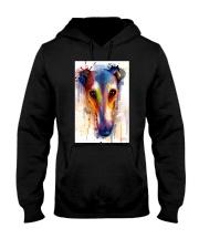 Greyhound Face Art Flow Q10 Hooded Sweatshirt thumbnail