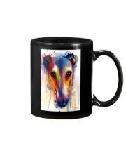Greyhound Face Art Flow Q10 Mug thumbnail