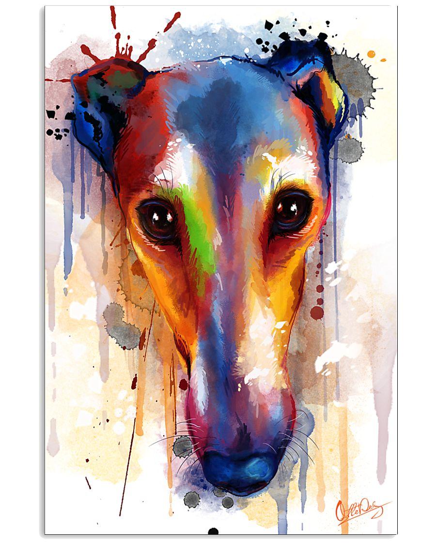Greyhound Face Art Flow Q10 11x17 Poster