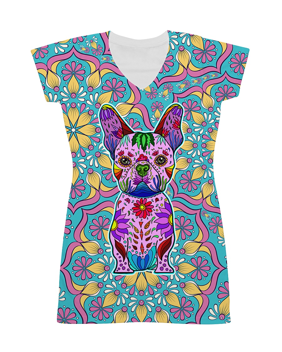 Frenchie Color All-over Dress