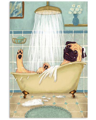 Pug Happy Bath